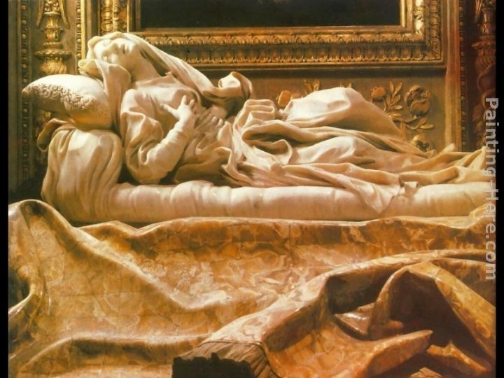 Gian Lorenzo Bernini The Blessed Lodovica Albertoni [detail]